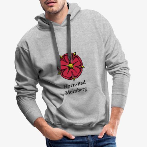 Lippische Rose mit Unterschrift Horn-Bad Meinberg - Männer Premium Hoodie