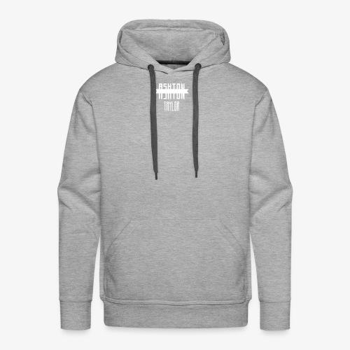 AshtonTaylor Merch Logo Modern White - Men's Premium Hoodie