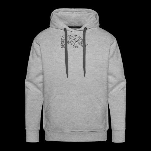 Rhinoceros - Sweat-shirt à capuche Premium pour hommes