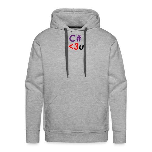 C# is love - Felpa con cappuccio premium da uomo