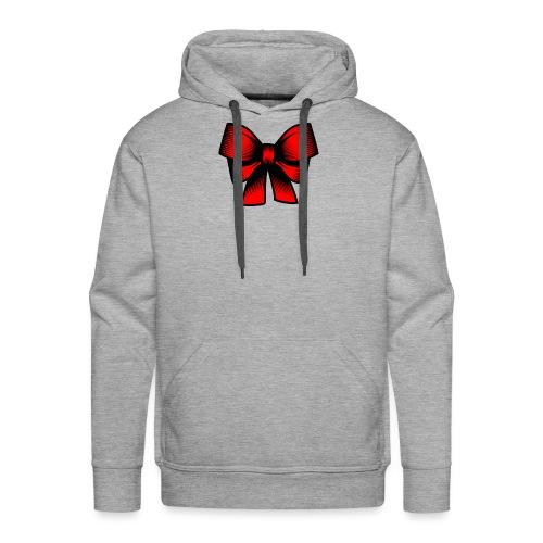 Schleife rot - Männer Premium Hoodie