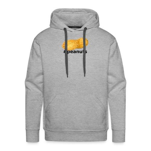 hashtag peanuts black - Männer Premium Hoodie