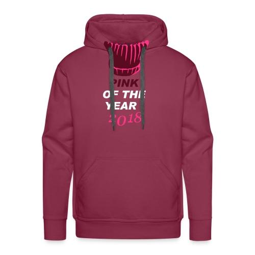 pink of the year 2018 pussyhat - Männer Premium Hoodie