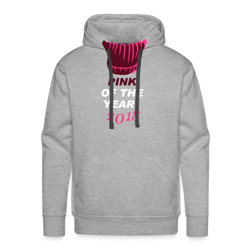 pink of the year 2018 pussyhat - Männer Premium Hoodie