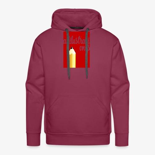 Ad ilustraciones Rojo - Sudadera con capucha premium para hombre