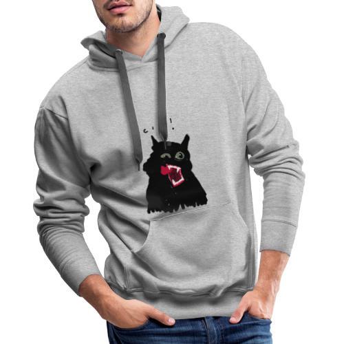 Black Cat - Sudadera con capucha premium para hombre