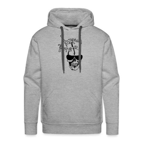 breizh pirate poignard tete de mort crane - Sweat-shirt à capuche Premium pour hommes