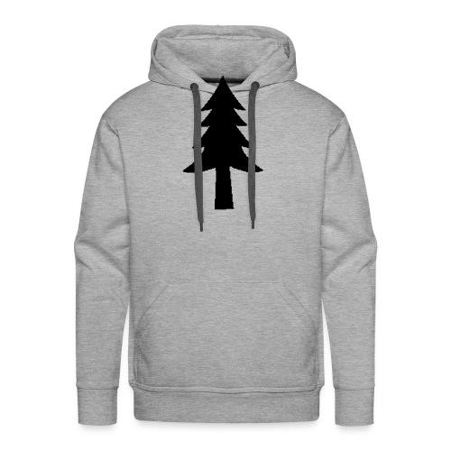 Sapin unicolor - Sweat-shirt à capuche Premium pour hommes