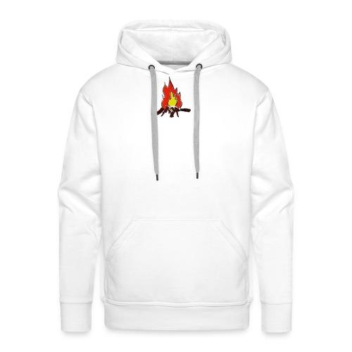 Fire color fuoco - Felpa con cappuccio premium da uomo