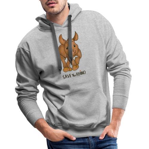 Save the Rhino - Men's Premium Hoodie