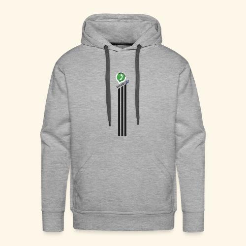 logo strepen - Mannen Premium hoodie