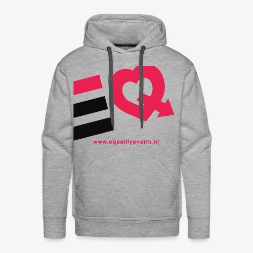 EQ schuin logo zwart - Mannen Premium hoodie