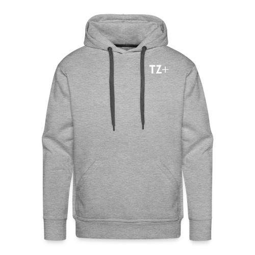 TZ+ white logo - Men's Premium Hoodie