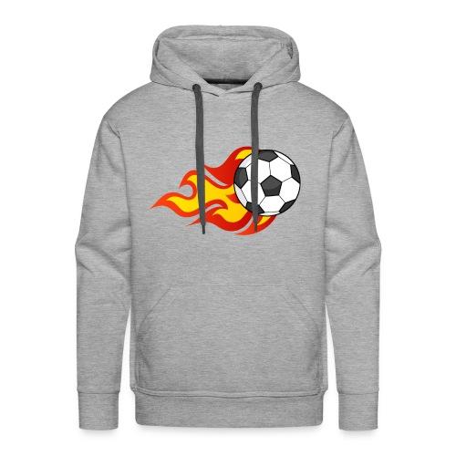 Flaming Football - Men's Premium Hoodie