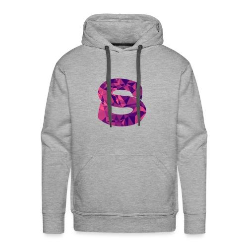 Purple Abstract Logo - Men's Premium Hoodie