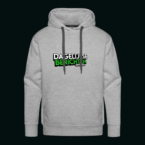 Dagelijkse Berichten Tshirt Logo v1 - Mannen Premium hoodie