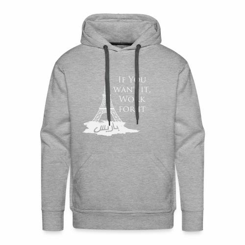 Paris dream work - Sweat-shirt à capuche Premium pour hommes