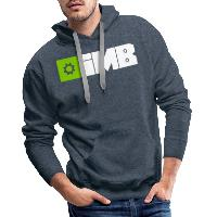 IMB Logo (plain) - Men's Premium Hoodie heather denim