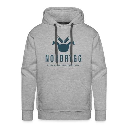 Mørk blå NB png - Premium hettegenser for menn