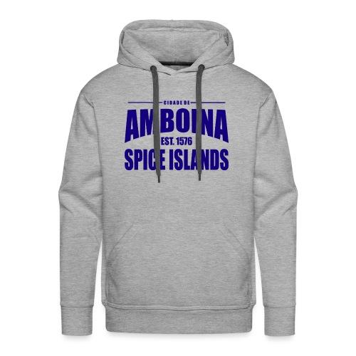 Cidade de Amboina - Blue - Mannen Premium hoodie