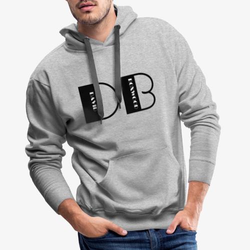 D OF DAVID, B OF BOXWOOD - Felpa con cappuccio premium da uomo