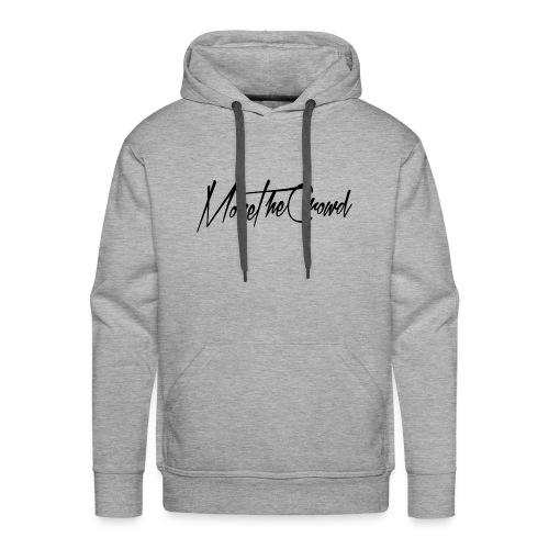 MoveTheCrowdlogoZWART 000000 png - Mannen Premium hoodie