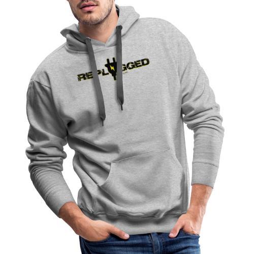 Replugged Singles - Clip Art Black - Men's Premium Hoodie