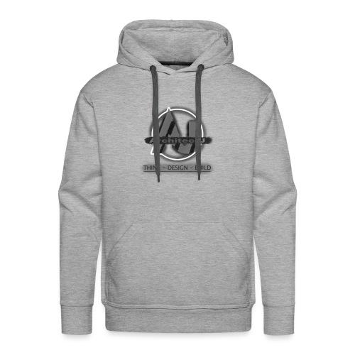 ArchitectJ_Logo_with_Slogan_-transparent_backgroun - Mannen Premium hoodie