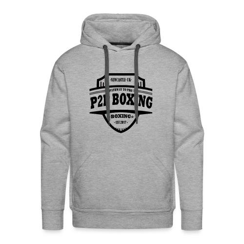 P2P Boxing Black Logo - Men's Premium Hoodie