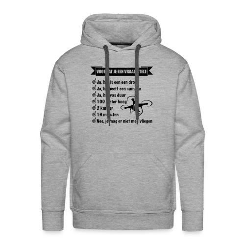 De Drone vlieger - Mannen Premium hoodie