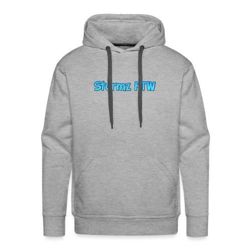 Stormz FTW blue and white fade - Men's Premium Hoodie