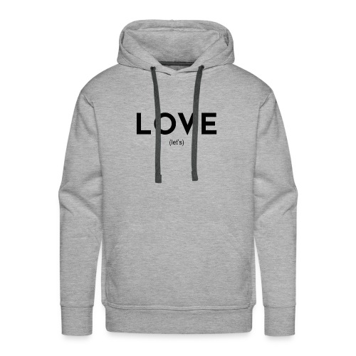 love (let's) - Men's Premium Hoodie