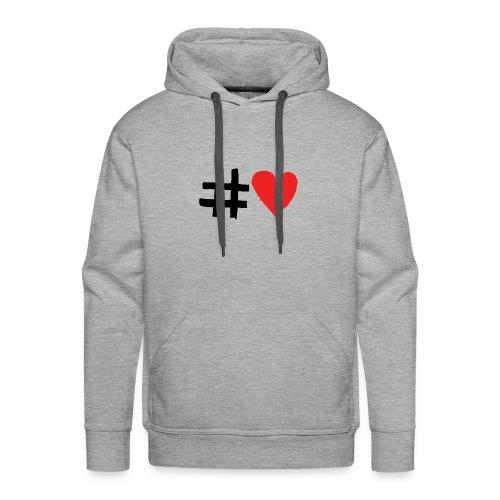 #Love - Herre Premium hættetrøje