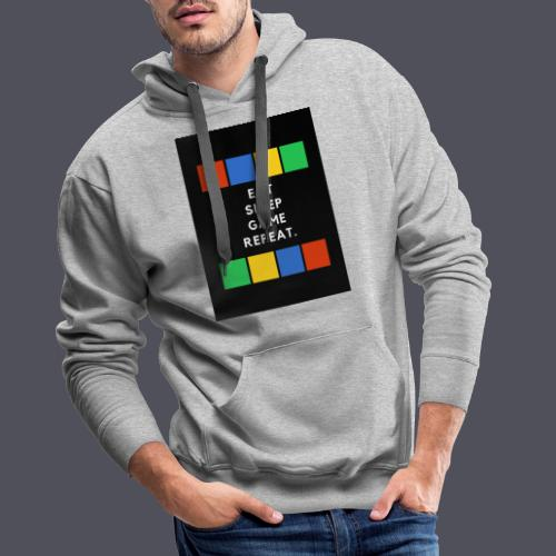 Eat, Sleep, Game, Repeat T-shirt - Men's Premium Hoodie