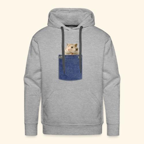 hamster in the poket - Felpa con cappuccio premium da uomo