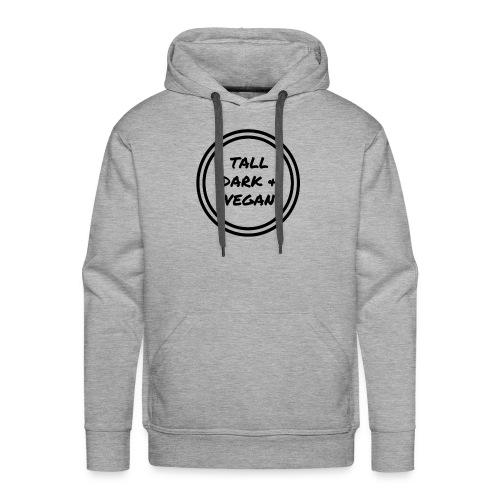 Tall Dark & Vegan Black Logo - Men's Premium Hoodie