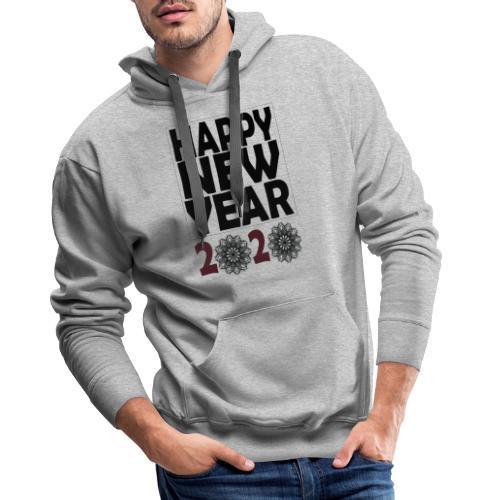 Happy new year 2020 T-shirt - Sweat-shirt à capuche Premium pour hommes