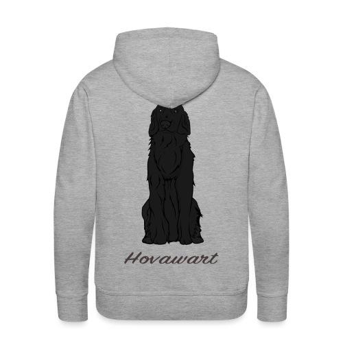 Hovawart nero - Felpa con cappuccio premium da uomo