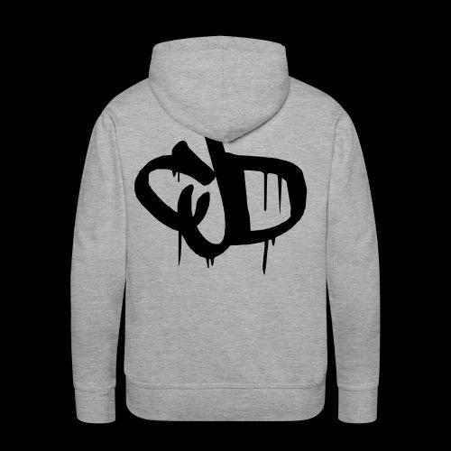 Dripping blood CJD logo - Men's Premium Hoodie