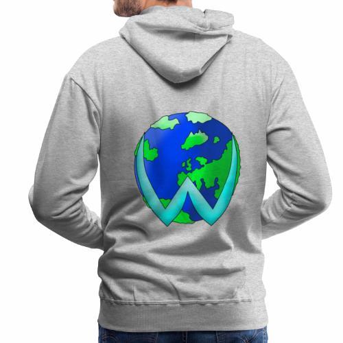 wister mundo - Sudadera con capucha premium para hombre