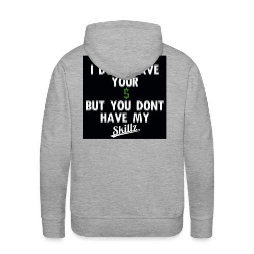 POETIC 1 (BACK LOGO) [SKILLZ ORIGINAL] - Sweat-shirt à capuche Premium pour hommes