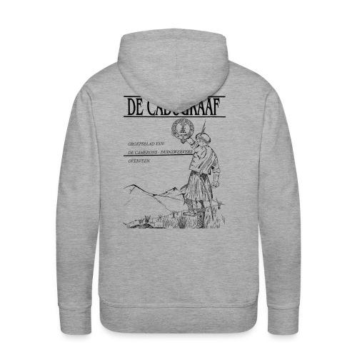 cadugraaf zwart - Mannen Premium hoodie