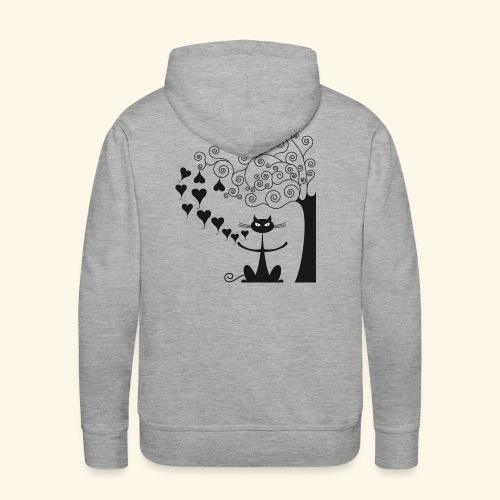 déclaration amour I - Sweat-shirt à capuche Premium pour hommes