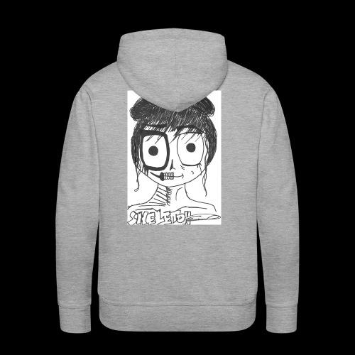 skeleton girl - Sweat-shirt à capuche Premium pour hommes