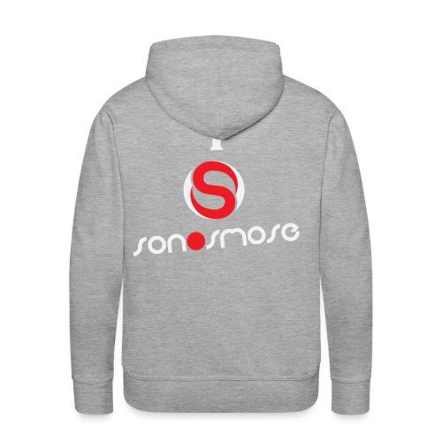 I Love Sonosmose Blanc - Sweat-shirt à capuche Premium pour hommes
