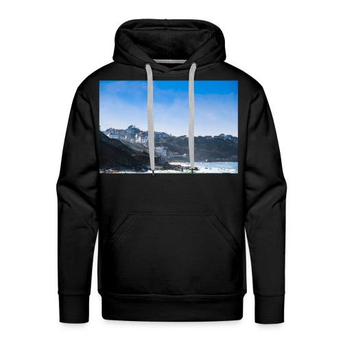 Côte Basque, brume et embruns. - Sweat-shirt à capuche Premium pour hommes