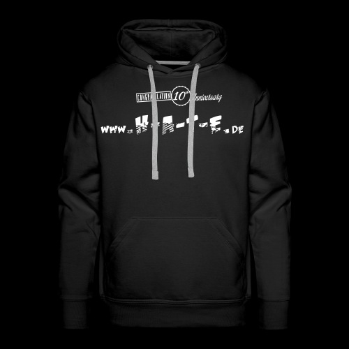 The FRONT of 10th HATE Shirt - Männer Premium Hoodie