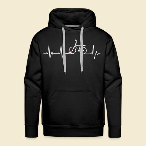 Radball | Heart Monitor White - Männer Premium Hoodie