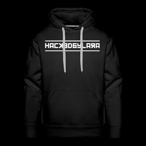 HackedByLara_Logo -Weiß- - Männer Premium Hoodie