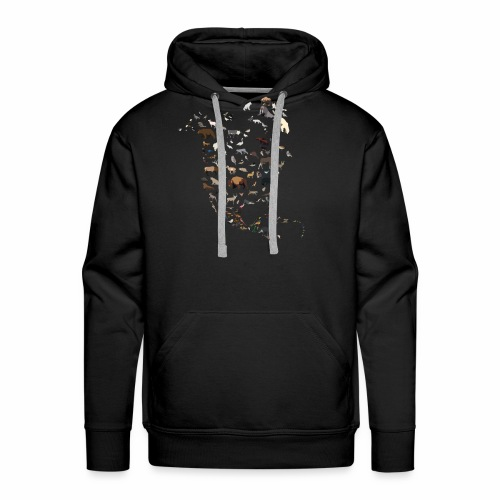 Wild North America Map - Men's Premium Hoodie